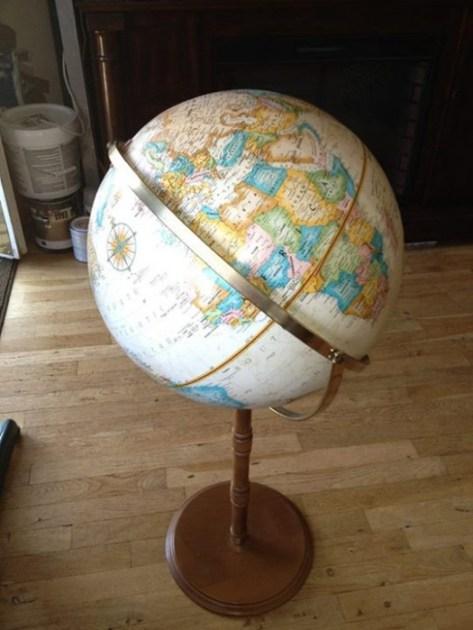 vintage globe light fixture