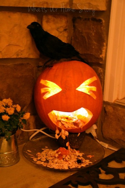 Whats Ur Home Story: Barfing jack-o-lantern, barfing pumpkin halloween, halloween decor