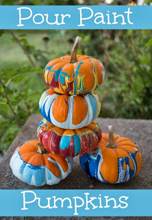 Pour Paint Pumpkins, Pumpkin Decorating Ideas