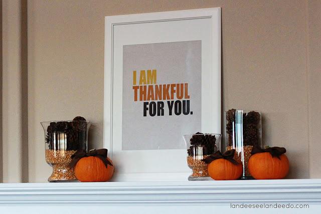 Simple Thanksgiving Mantel, Easy Thanksgiving Decor