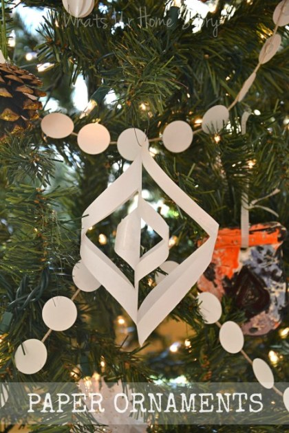 Whats Ur Home Story: Paper Christmas Ornaments, handmade Christmas Ornaments, DIY ornaments, handmade holiday decorations, Paper Ornaments,