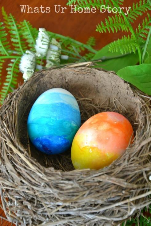 Watercolor easter eggs, spring home tour