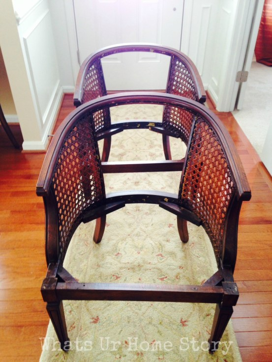 cane chair makeover, how to paint a cane chair