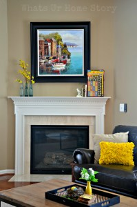 spring home tour, spring mantel