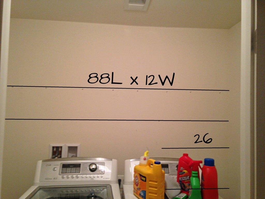 Adding storage to laundry room