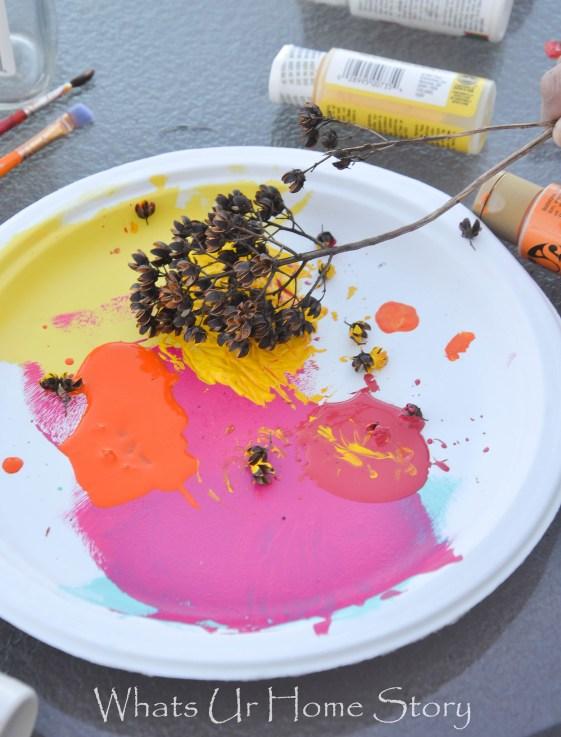 diy dried flowers paint