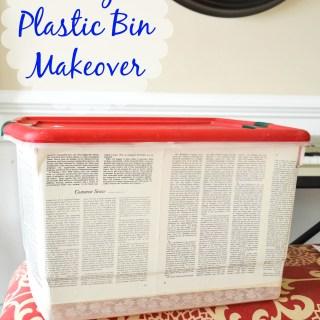 easy plastic storage bin makeover