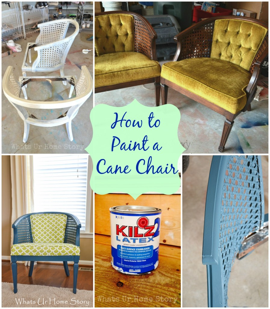 how to paint a chair with regular paint whats ur home story. Black Bedroom Furniture Sets. Home Design Ideas
