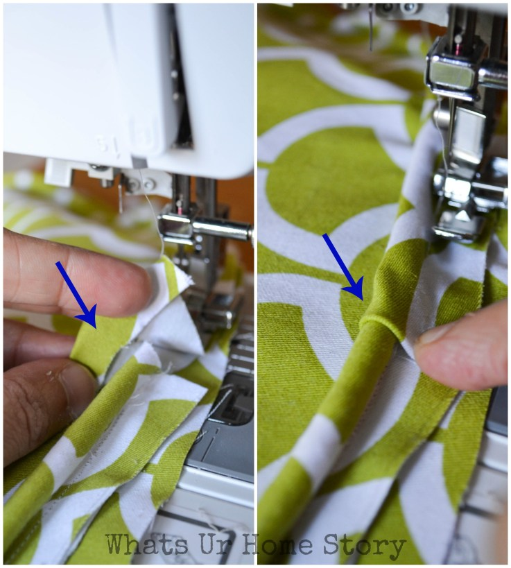 sew piping to a seat cushion