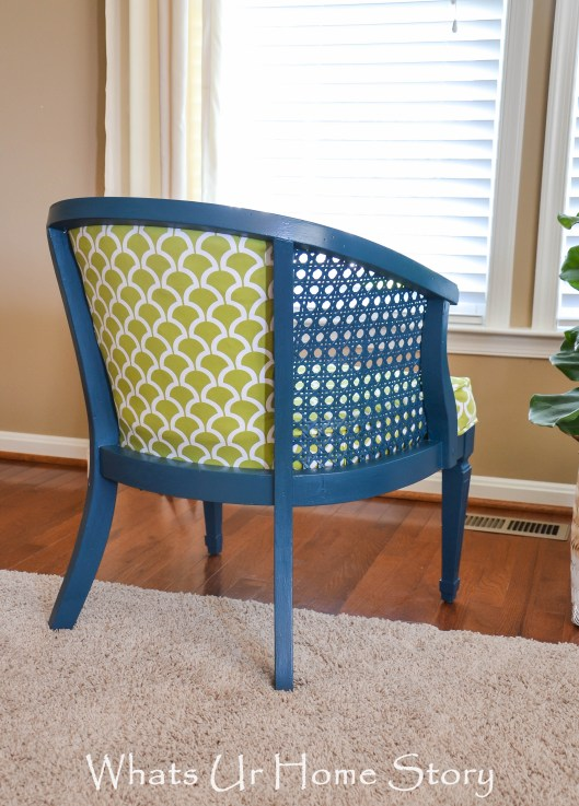 thrift store cane chair makeover
