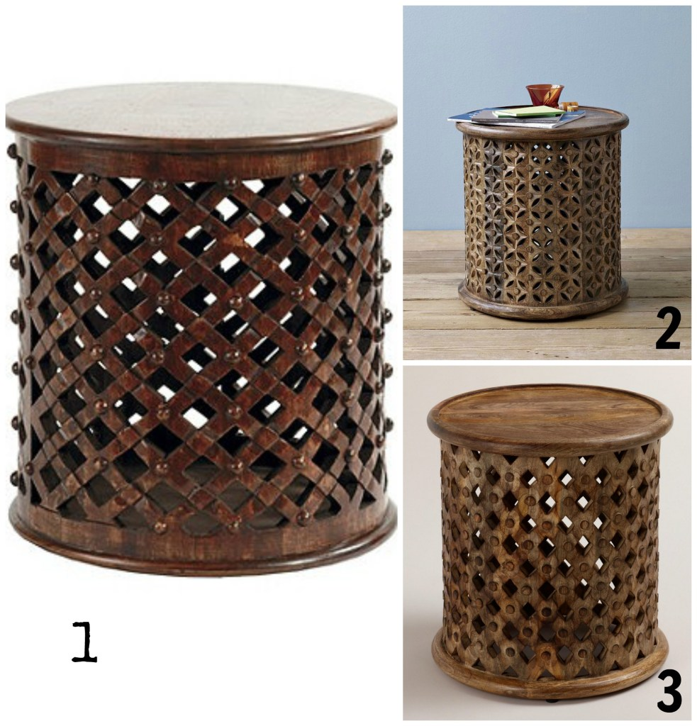Carved Wood Side Table, home decor knockoffs