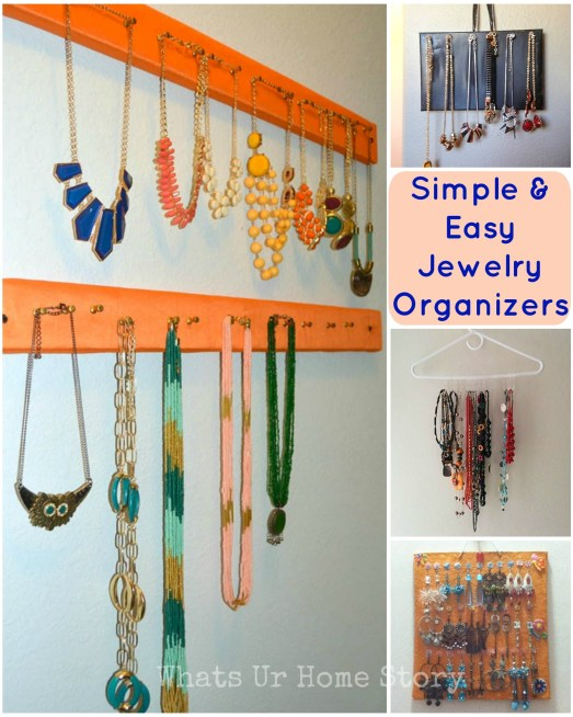 DIY Simple & Easy Jewelry Organizers