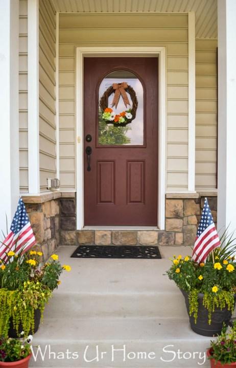 summer wreath summer porch