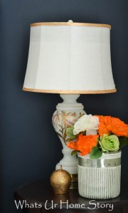 navy and coral decor