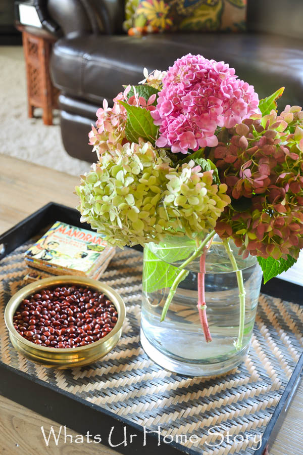 Fall Coffee Table decorating