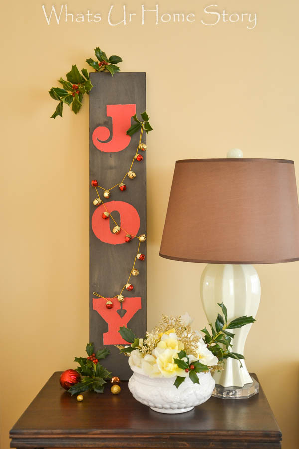 Driftwood Joy Sign, Get your home ready for the holidays with a Christmas Vignette