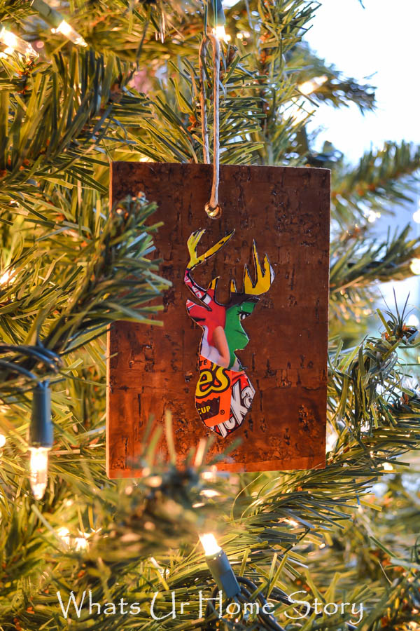 Great Candy wrapper craft -Woodland Reindeer Ornaments