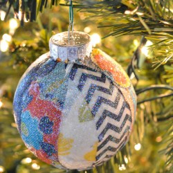 Handmade Christmas Ornament,Fabric Scraps Christmas Ornament