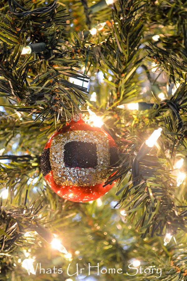 santa belt ornament tutorial