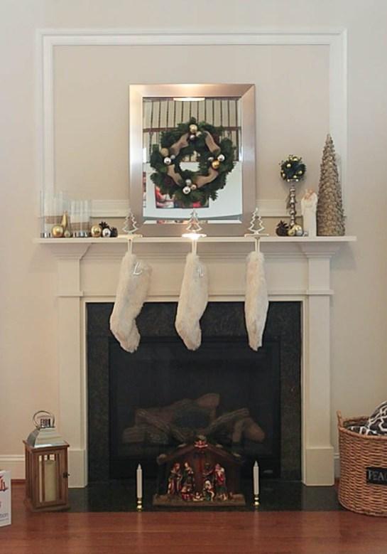 Neutral Christmas Mantel