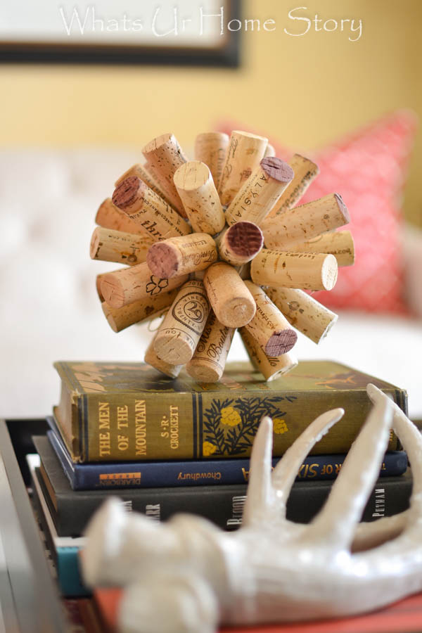 Coffee table styling - cork ball
