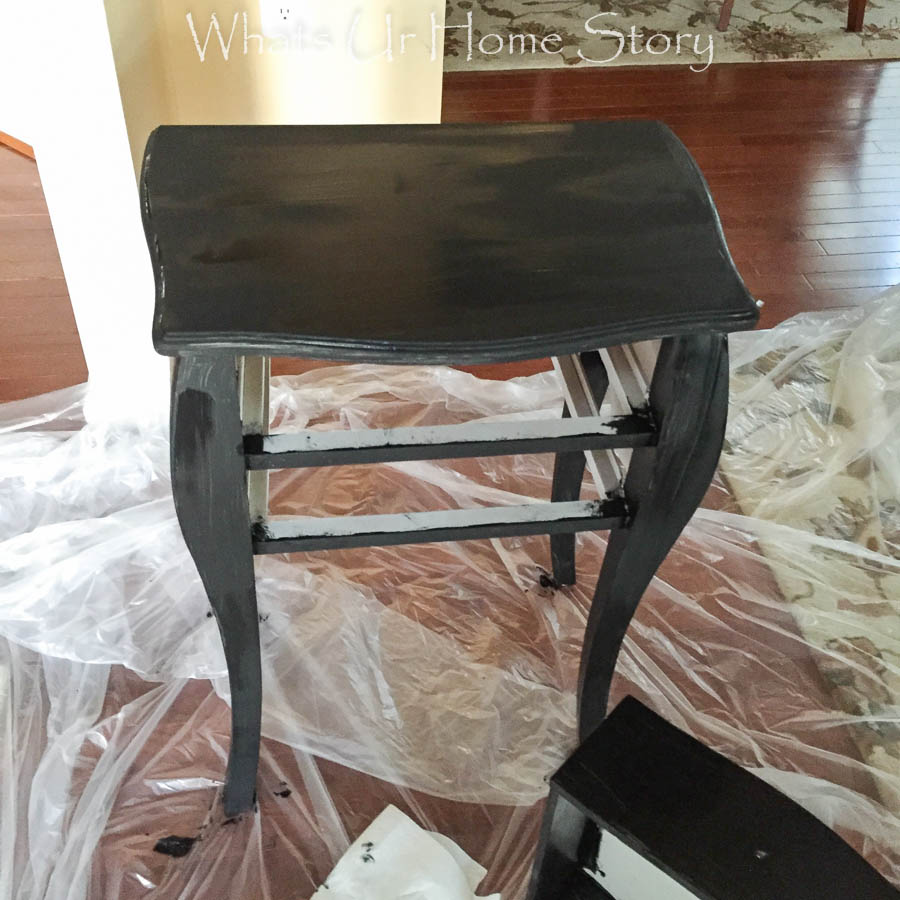chalk paint side table makeover-