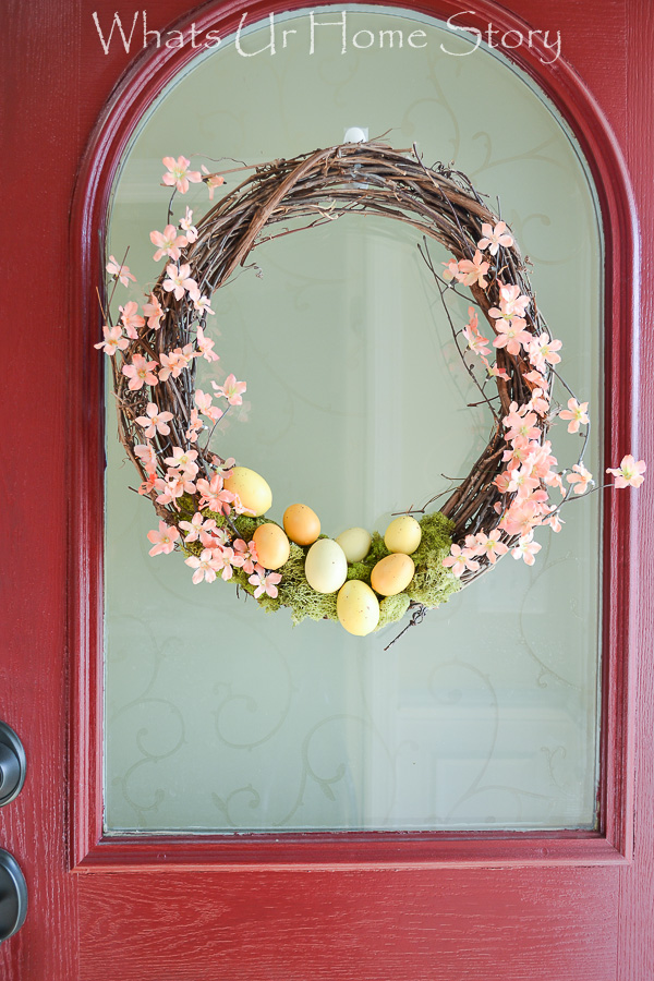How to apply window film; make this easy spring wreath in 5 minutes