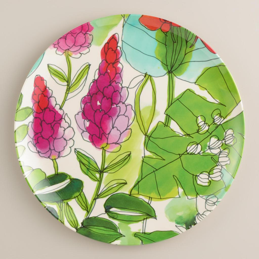 watercolor home decor -Floral Fiji Dinner Plates -watercolor plates