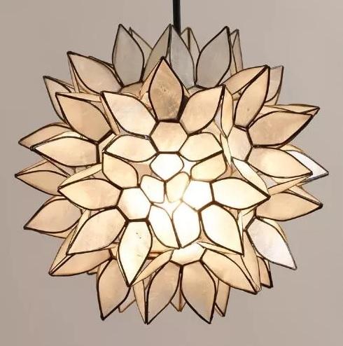 capiz lotus pendant
