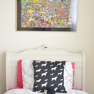 Black and Whilte Girls room -DIY puzzle art