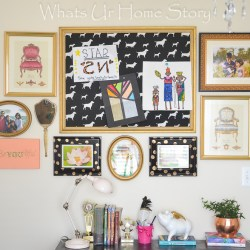 Cork board Makeover with fabric