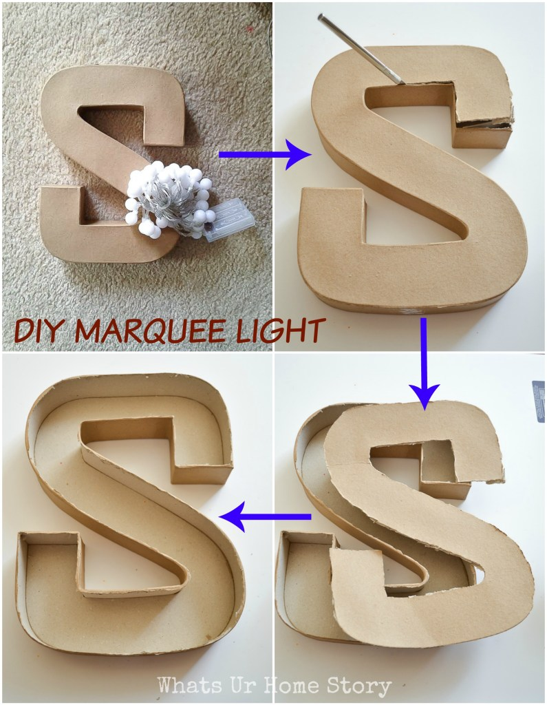 How to DIY a Marquee Letter Light
