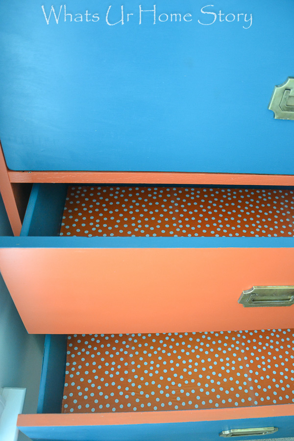 DIY drawer liners from craft paper