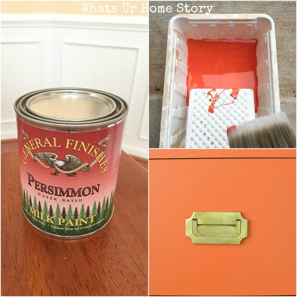 General Finishes Persimmon Paint -the perfect coralpaint for your furniture