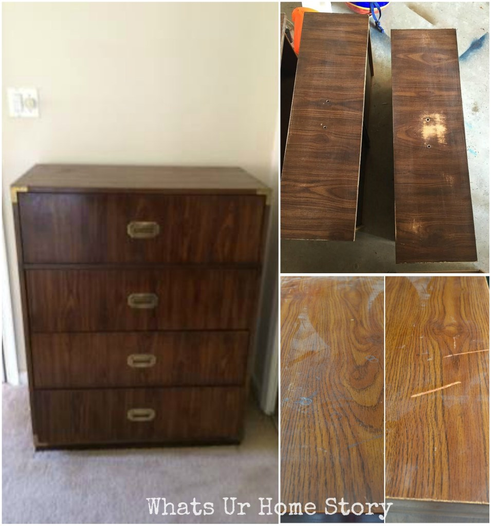 how to refinish a campaign dresser