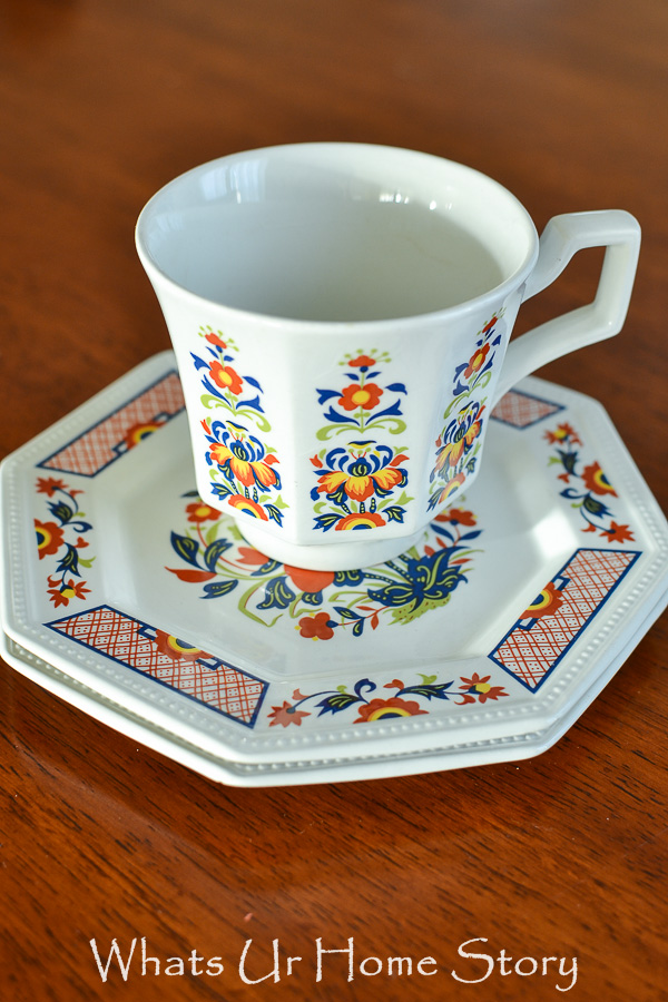 ironstone cup and saucer from the thrift store