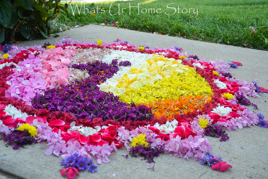Onam pookalam peacock pattern, flower rangoli with peacock design for Onam festival
