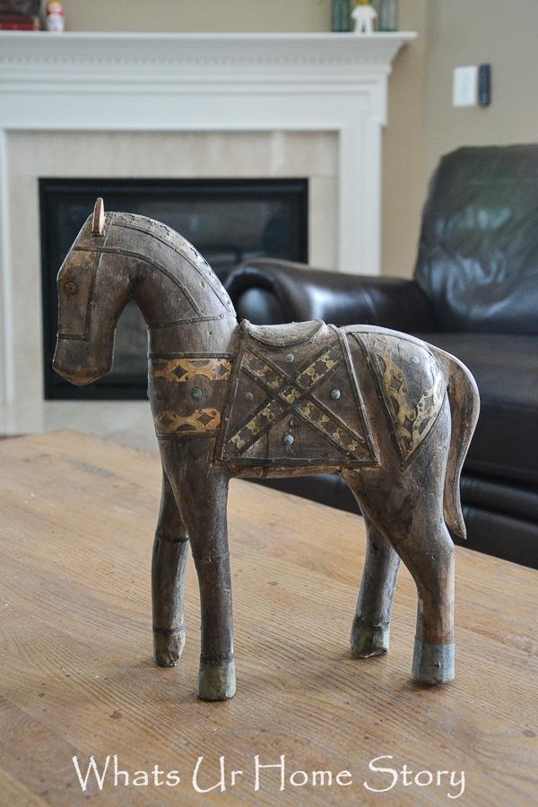 antique indian horse