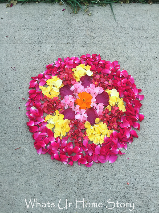 simple flower rangoli