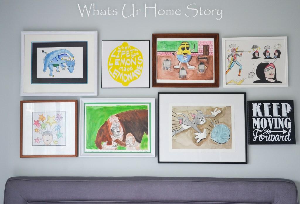 tween boy room gallery wall