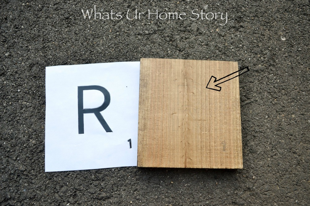 DIY Scrabble Letters are so easy to make!