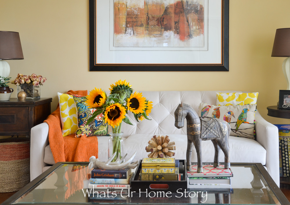 Fall home tour decorating with neutral colors
