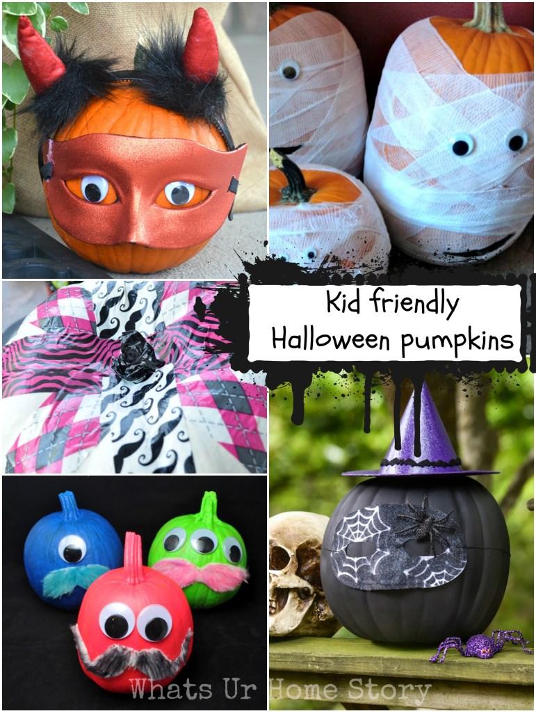 Great kid friendly Halloween pumpkins decorating