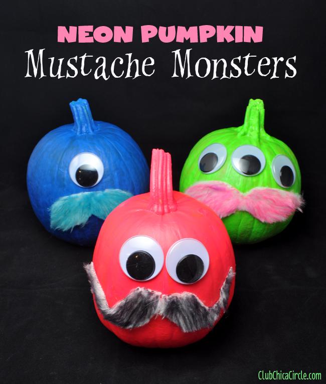 Neon-painted-pumpkin-monsters-craft-idea