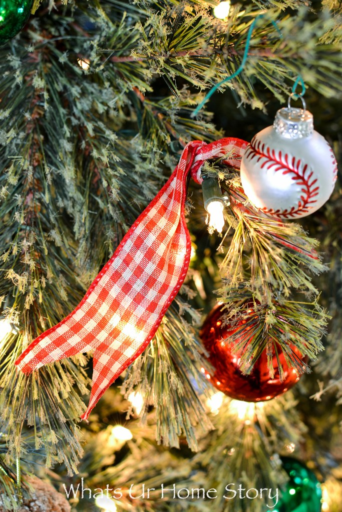 Christmas Tree with gingham bows