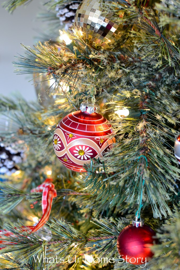 Painted Glass Christmas Tree Ornament