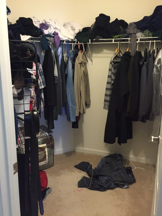 Master closet makeover before picture
