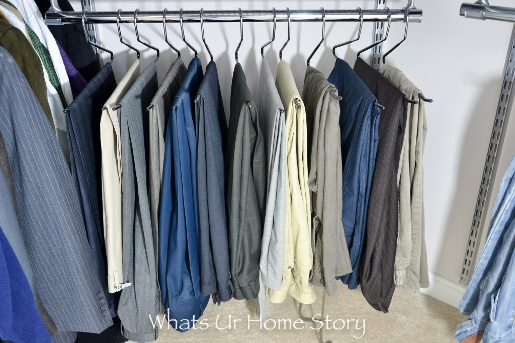 Closet organization - these pant hangers are awesome!