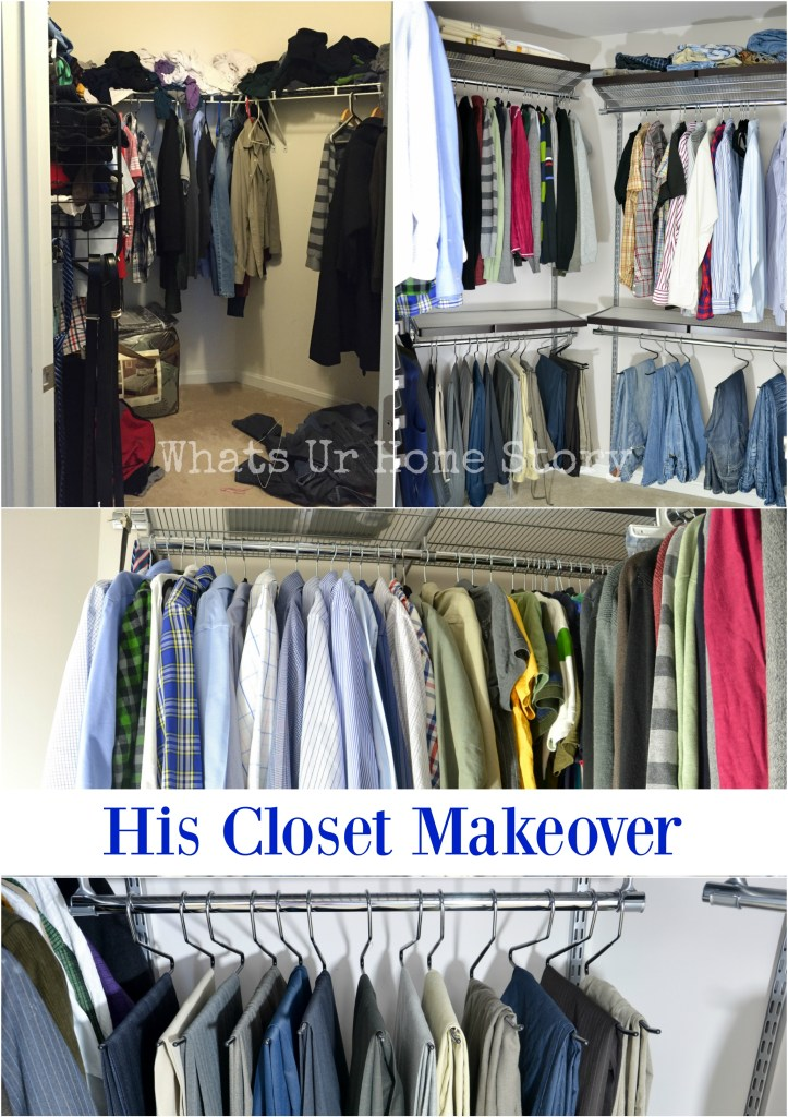 His Closet Makeover with Elfa System