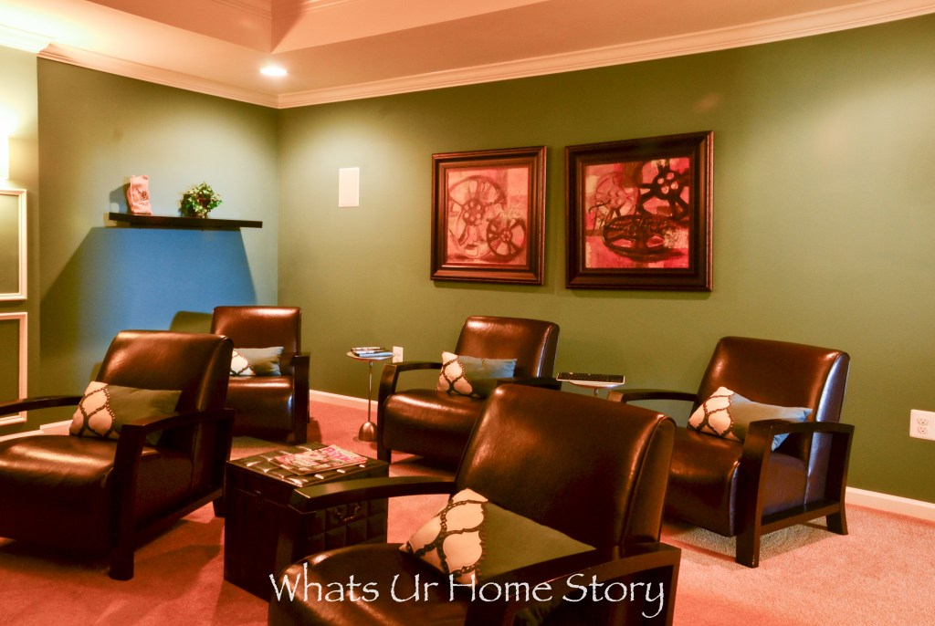 eclectic home tour - basement home theater
